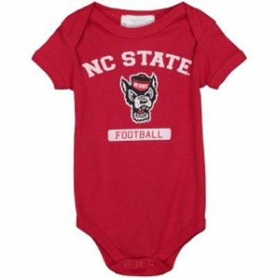 Two Feet Ahead トゥー フィート アヘッド スポーツ用品  NC State Wolfpack Infant Red Football Bodysuit