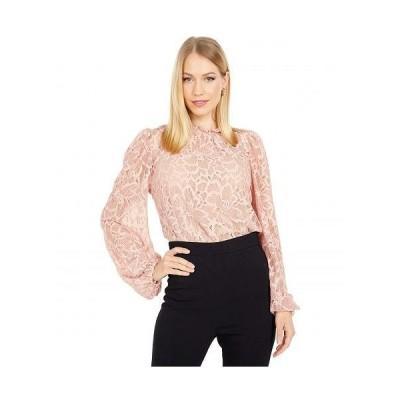 WAYF レディース 女性用 ファッション ブラウス Tolland Ruffle Neck Lace Blouse - Mauve