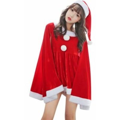 サンタコス サンタワンピース カワイイ サンタ コスプレ サンタクロース 衣装 サンタ クリスマス レディース ワンピース 女の子用 パーテ