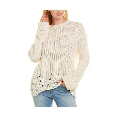レディース ファッション  Autumn Cashmere Cuffed Silk Wool & Cashmere-Blend Sweater