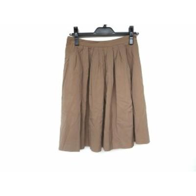 グレースコンチネンタル GRACE CONTINENTAL スカート サイズ36 S レディース 美品 - ブラウン ひざ丈【還元祭対象】【中古】20201002
