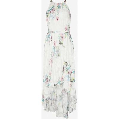 テッドベーカー TED BAKER レディース ワンピース ミドル丈 ワンピース・ドレス Floral-print pleated crepe midi dress IVORY