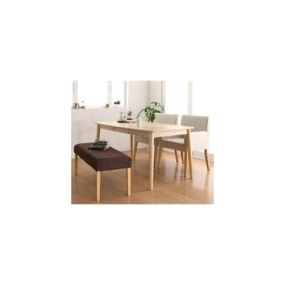 天然木 アッシュ材 ゆったり座れる ダイニング eat with. イートウィズ 4点セット(テーブル+チェア2脚+ベンチ1脚) W150