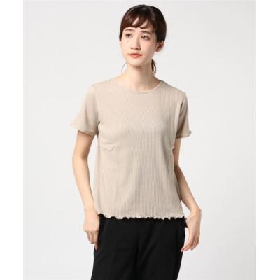 STYLEBLOCK / アイレットリブピコレースカットソー WOMEN トップス > Tシャツ/カットソー