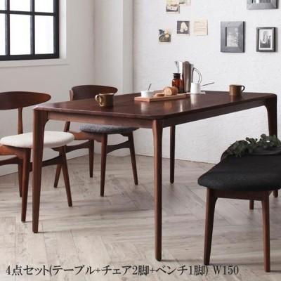 【送料無料】 激安 ダイニングテーブルセット北欧 デザイナーズ おすすめ 人気 格安 安い ダイニング 4点Bセット【テーブル+チェアB×2+ベンチ】040601116