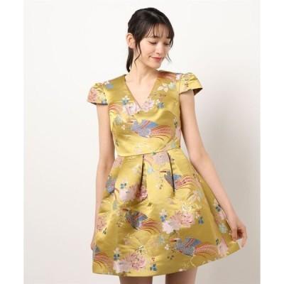 ドレス DENYS オケージョン バードプリント ドレス