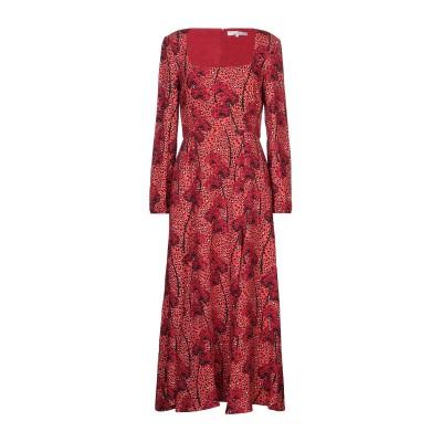 BORGO DE NOR 7分丈ワンピース・ドレス レッド 10 レーヨン 100% 7分丈ワンピース・ドレス