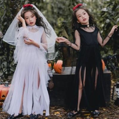 ハロウィン 衣装 子供 コスプレ コスチューム 衣装 3点セット 魔女 天使 子供用 バンパイア 吸血鬼 コスチューム 女の子 仮装 可愛い 全