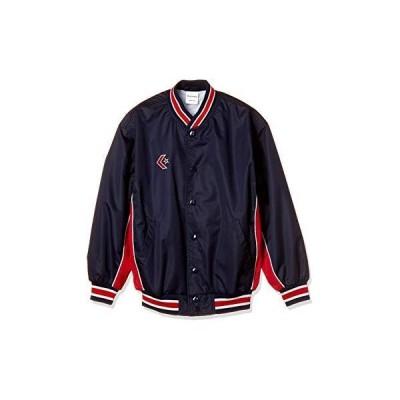 コンバース 8F_ジュニアウォームアップジャケット (CB482501S) 色 : ネイビー/レッド サイズ : 150