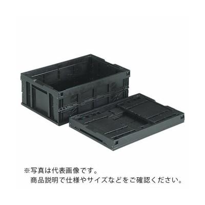 サンコー 折りたたみコンテナー オリコン55B(BK)(導電)黒 ( SKO-55B-EL-BK ) 三甲(株) 【メーカー取寄】