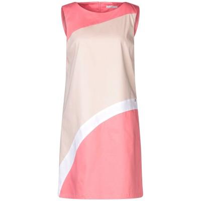 LUCKYLU  Milano ミニワンピース&ドレス ベージュ 42 コットン 95% / ポリウレタン 5% ミニワンピース&ドレス