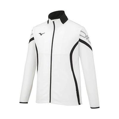 [ミズノ] トレーニングウェア MCライン ウォームアップジャケット 吸汗速乾 32MC1110 ホワイト×ブラック×ブラッ?
