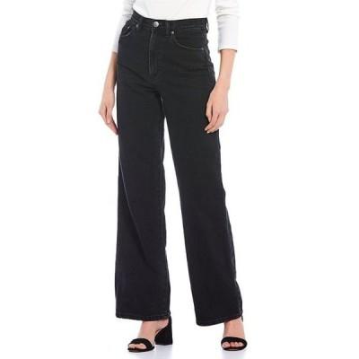 ジービー レディース デニムパンツ ボトムス High Waisted Wide Leg Denim Jeans