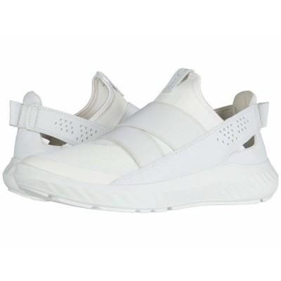 エコー スニーカー シューズ レディース ST.1 Lite Slip-On White/White/White Textile/Textile/Cow Leather