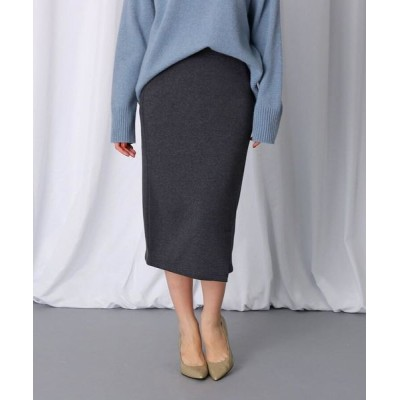 JET/ジェット 【洗える】スリットデザイン ストレッチタイトスカート チャコールグレー(814) 04(M)