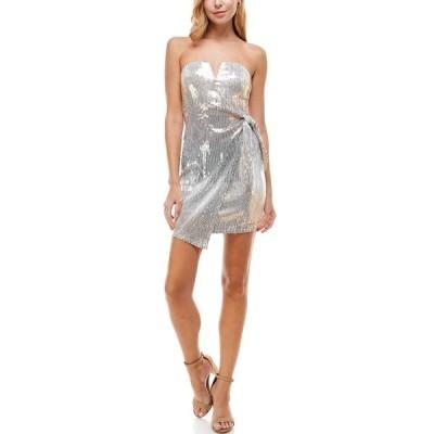 ロウエー レディース ワンピース トップス V-Wire Sequin Dress SILVWHBLUS