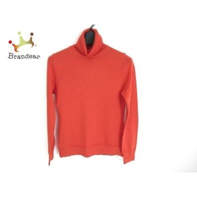 アナイ ANAYI 長袖セーター サイズ38 M レディース 美品 オレンジ タートルネック     スペシャル特価 20210106