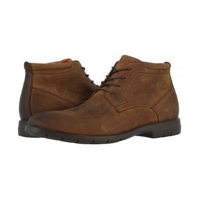 Florsheim フローシャイム メンズ 男性用 シューズ 靴 ブーツ チャッカブーツ Westside Plain Toe Chukka Boot - Brown Crazy Horse