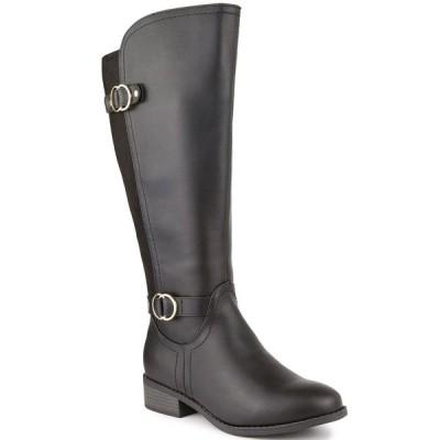 ケレンスコット ブーツ&レインブーツ シューズ レディース Leandraa Wide-Calf Riding Boots,  Black