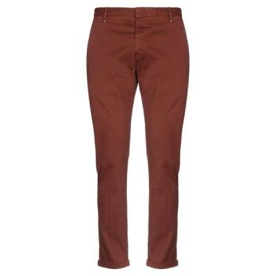 BERNA チノパンツ  メンズファッション  ボトムス、パンツ  チノパン 赤茶色