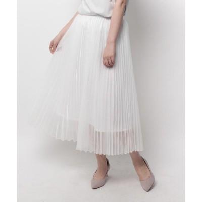 スカート マットオーガンジープリーツスカート