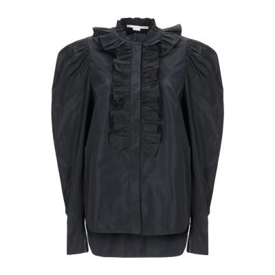 ステラ マッカートニー STELLA McCARTNEY シャツ ブラック 42 ポリエステル 66% / シルク 34% シャツ