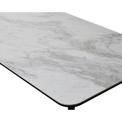 EL257_セラミック ダイニングテーブル 幅150 【設置/組立て付き】ホワイト[uc10147-01]