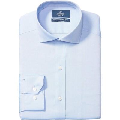 バトゥンド ダウン Buttoned Down メンズ シャツ 大きいサイズ トップス Big & Tall Tailored Fit Cutaway Collar Solid Non-Iron Pocket Dress Shirt Blue