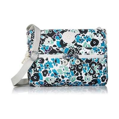 Kipling Women's Angie Handbag Convertible Cross Body, Blue Field Floral, One Size 並行輸入品