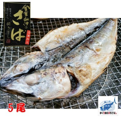 サバ 金華山沖のサバ 開き干し 5尾 脂のり よし さば 鯖 さばの干物 ひもの ヒモノ 干物 さば開干し