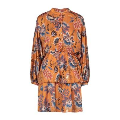 スーベニア SOUVENIR ミニワンピース&ドレス ブラウン S ポリエステル 100% ミニワンピース&ドレス