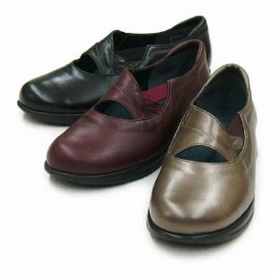 コンフォートシューズ レディースシューズ レディースファッション 靴 機能性有 5E 日本製 軽量 ソフト本革 足にストレスなく履ける