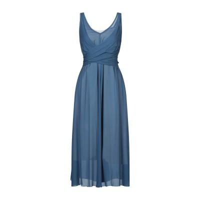 POMANDÈRE 7分丈ワンピース・ドレス ブルーグレー 38 レーヨン 100% 7分丈ワンピース・ドレス