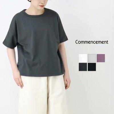 コメンスメント Commencement クルーネックドルマンショートスリーブTシャツ C-004 レディース 2021春夏 ワイド コットン 綿 ラフ カジュアル