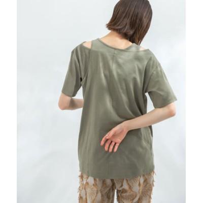 アシメレイヤードTシャツ