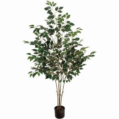 全高1.8m フィカス ベンジャミン グリーン(造花 フェイクグリーン 人工 大型 観葉植物 植木 樹木 偽物 装飾 ベンジャミナ)