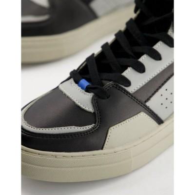 エイソス メンズ スニーカー シューズ ASOS DESIGN high top sneakers in blue and gray Blues