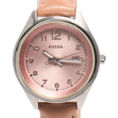 フォッシル 腕時計 AM-4376 クオーツ ピンク レディース  FOSSIL 中古