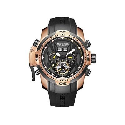 Reef Tiger Aurora Serier RGA3532 Men Sport with Year Month Date Day Calendar Dial Automatic Mechanical Wrist Watch 並行輸入品