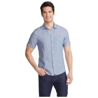 アンタックイット メンズ シャツ トップス Wrinkle-Resistant Short Sleeve Linen Shirt