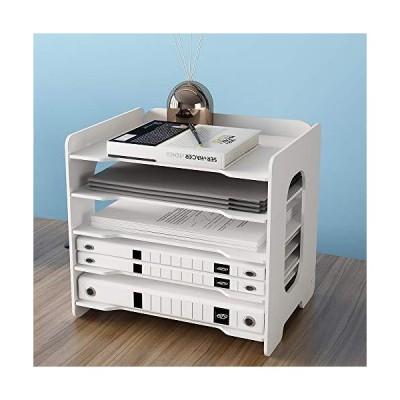 オフィスデスクオーガナイザー ホワイトアクリル 引き出し付き オフィス用品 デスクアクセサリーオーガナイザー ペンホルダー