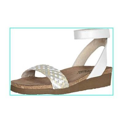 【新品】NAOT Footwear Women's Abbie Sandal White Metallic Multi Braid/White Pearl Lthr 8 M US(並行輸入品)