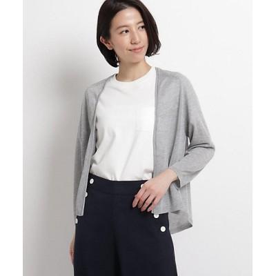 <Dessin(Women)/デッサン> シアーニットカーディガン グレー【三越伊勢丹/公式】