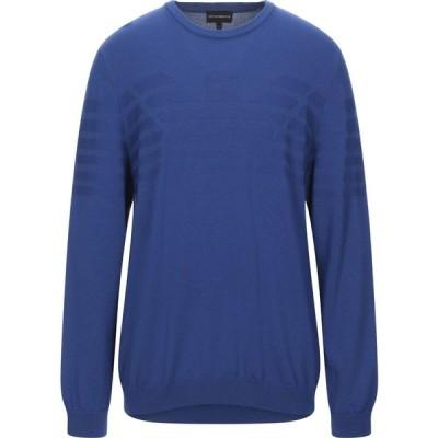 アルマーニ EMPORIO ARMANI メンズ ニット・セーター トップス sweater Blue
