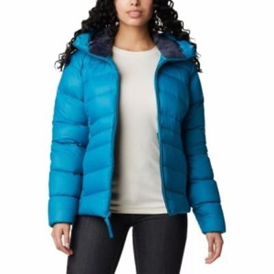コロンビア Columbia レディース ダウン・中綿ジャケット フード アウター Autumn Park Down Hooded Jacket Fjord Blue