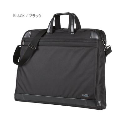 (World Traveler/ワールドトラベラー)エース ガーメントバッグ メンズ 軽量 出張 ハンガー2本 A3 ACE 52569/メンズ ブラック
