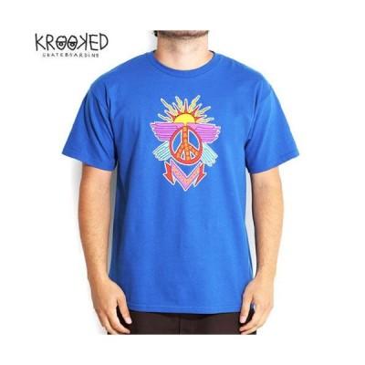 スケボー Tシャツ KROOKED クルックド K-OPPS TEE ロイヤル ブルー NO62