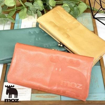 長財布 レディース がま口 使いやすい 革 レザー 20代 30代 40代 北欧 長サイフ moz モズ elk がま口長財布 86002