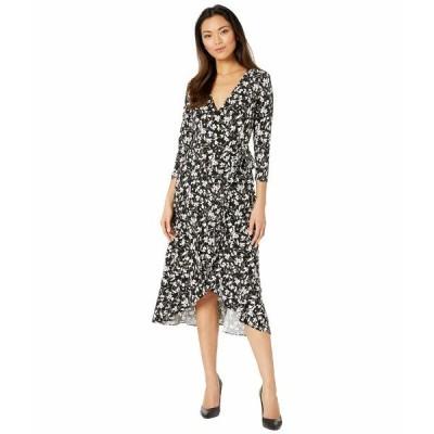 ラルフローレン ワンピース トップス レディース High-Low Jersey Dress Polo Black/Silk White
