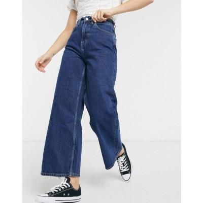 ピープル ツリー People Tree レディース ジーンズ・デニム ワイドパンツ ボトムス・パンツ organic cotton wide leg cropped jeans ウォッシュブルー